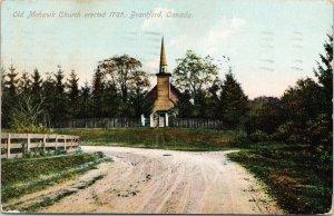 Mohawk Church Brantford Ontario ON Erected 1785 c1906 Postcard F49