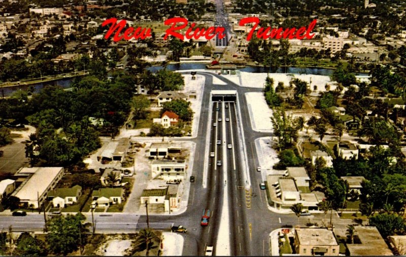 Florida Fort Lauderdale Aerial View New Tunnel Under New River and U S No 1