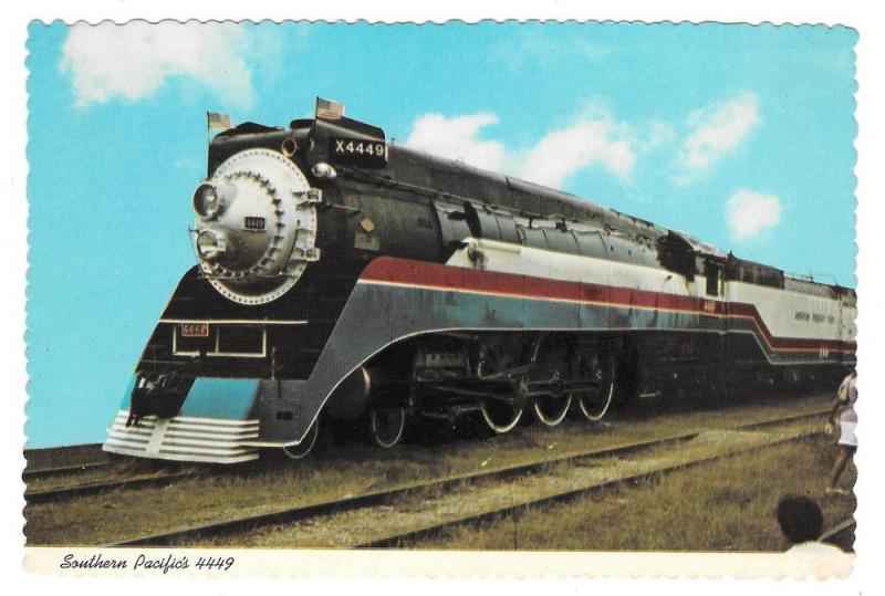 American Freedom Train Southern Pacific 4449 1976 Postcard