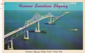 Florida Sunshine Skyway Bridge Across Tampa Bay