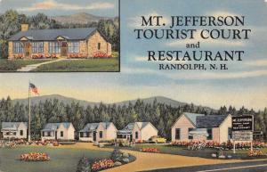 Randolph New Hampshire Mt Jefferson Tourist Court Vintage Postcard K43339