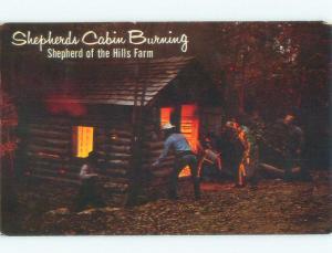 Pre-1980 SHEPHERD'S CABIN IN PAGEANT Shepherd Of The Hills - Branson MO E9102