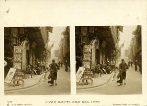 china, HONG KONG, Chinese Quarter (1900s) Sunbeam Stereo Card, Dearden Holmes