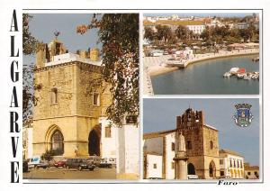 Portugal Faro Algarve Monument Statue Cars Voitures Harbour Boats