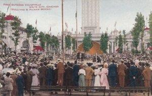 CHICAGO, Illinois, 1908; White City , Sullivan & Kilrain Boxing, Free Vaudeville
