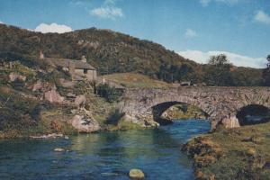 River Duddon & Ulpha Bridge Lake District Stone Bridge 1970s Postcard