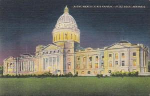 State Capitol Building At Night Little Rock Arkansas