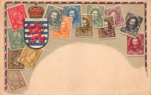 Luxembourg Stamps on Early Embossed Postcard, Unused, Published by Ottmar Zieher