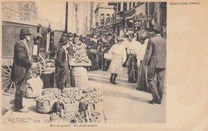 DAYTON , Ohio , 1901-07 ; Street Market