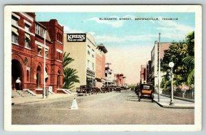 Brownsville Texas~Elizabeth Street~Kress 5&10c Store~JC Penney~No Left Turn~1916