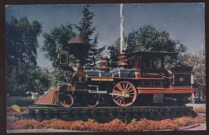 C P Huntington Southern Pacific Line Railroad Steam Train California Postcard