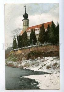185904 GERMANY Cemetery near the church RPPC Tilsit 1907 year