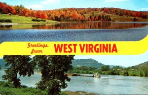 West Virginia Greetings Showing Spruce Knob and Ohio River