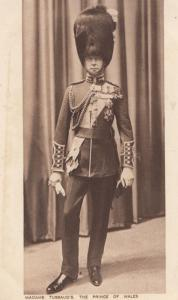 Madame Tussauds Antique Military Waxwork of Prince Of Wales Soldier Postcard