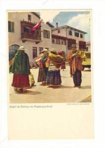Villagers at Hotel de Turistas, Huancayo, Peru 1910-20s