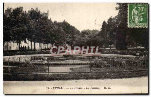 Old Postcard Epinal Course Basin