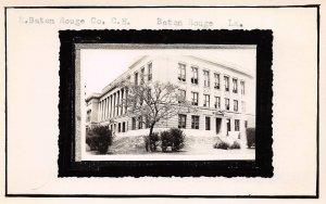 LPSS79 Baton Rouge Louisiana E. Baton Rouge Co. Court House Postcard RPPC