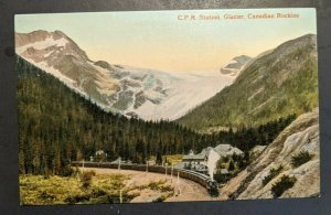 Mint Vintage Railroad C R P Station Glacier Canadian Rockies Canada RPPC