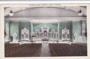 Florida Miami Interior Gesu Church