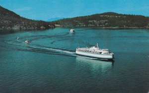 Ferry , Active Pass , B.C., Canada , 50-60s
