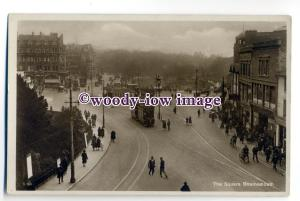 tq1935 - Hants - Trams & Cars in The Square, in Bournemouth - Postcard