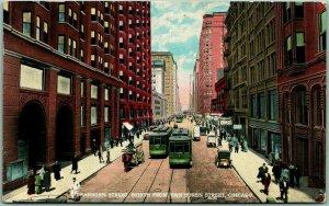 Chicago, Illinois Postcard DEARBORN STREET, North from Van Buren St. 1915