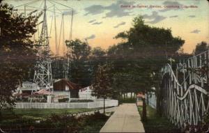 Roller Coaster Delmar Garden Amusement Park Oklahoma City c1910 Postcard