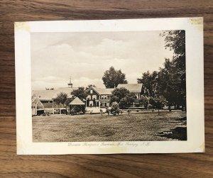 West Swanzey NH - DENMAN THOMPSON RESIDENCE & GREENHOUSE - Postcard RPPC