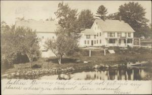 Home Melvin Mills NH Cancel & Canobie Lake Doane #4 Cancel 1906 RPPC