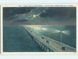 W-Border BRIDGE SCENE Tampa To St. Petersburg Florida FL H8864