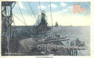 Peace Preservers Military Battleship Postcard Post Card Old Vintage Antique M...