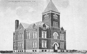 Court House Ladysmith Wisconsin 1908 postcard