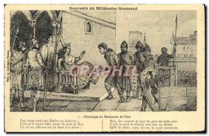 Old Postcard Tribute From kissing Foot Normandy