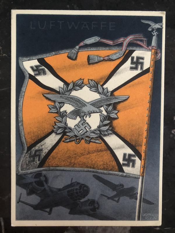 Mint Germany Patriotic Postcard Luftwaffe fighter pilots