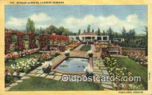 Sunken Gardens, Lambert Gardens Portland OR Unused