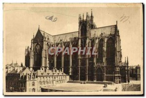 Old Postcard Metz Apse of the Cathedral