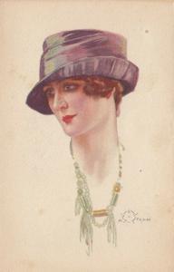 A. TERZI ; Art Deco Female Head Portrait , 1910s ; #6