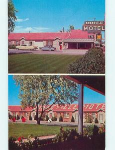Unused Pre-1980 OLD CARS & BONNEVILLE MOTEL Idaho Falls Idaho ID s5656-12