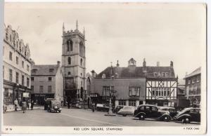 Lincolnshire; Stamford, Red Lion Square RP PPC, 1958 PMK, By Tuck