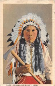 B28/ Native American Indian Postcard 1945 Jicarilla Apache Chief Arizona 9
