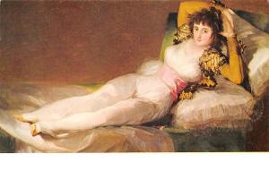 Museo del Prado, Goya Maja Vestida La Maja hobillee The Dressed Maja Postcard