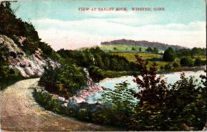 View at Tablet Rock Winsted CT Vintage Postcard R06