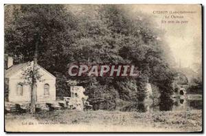 Casson Old Postcard The castle A corner of the park