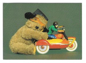 Biggles Stuffed Teddy Bear Toy Motorcycle1986 Caroline Irwin 4X6 Postcard