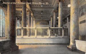 Wilkes Barre Pennsylvania~2nd National Bank~Interior~Teller Cages~1910 Postcard