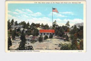 ANTIQUE POSTCARD NATIONAL STATE PARK WYOMING HARRY P HYNDS BOY SCOUT LODGE