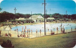 Watertown Wisconsin~Swimming Pool~1951 LL Cook Postcard