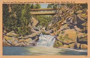 New Hampshire White Mountains The Pool & The Flume & Sentinel Bridge ...
