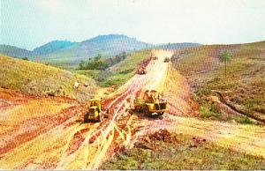 Road Construction in Brazil with Caterpillar Machines 1956