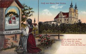 Maria Dre Eichen Austria Gruss aus scenic view antique pc Y12324